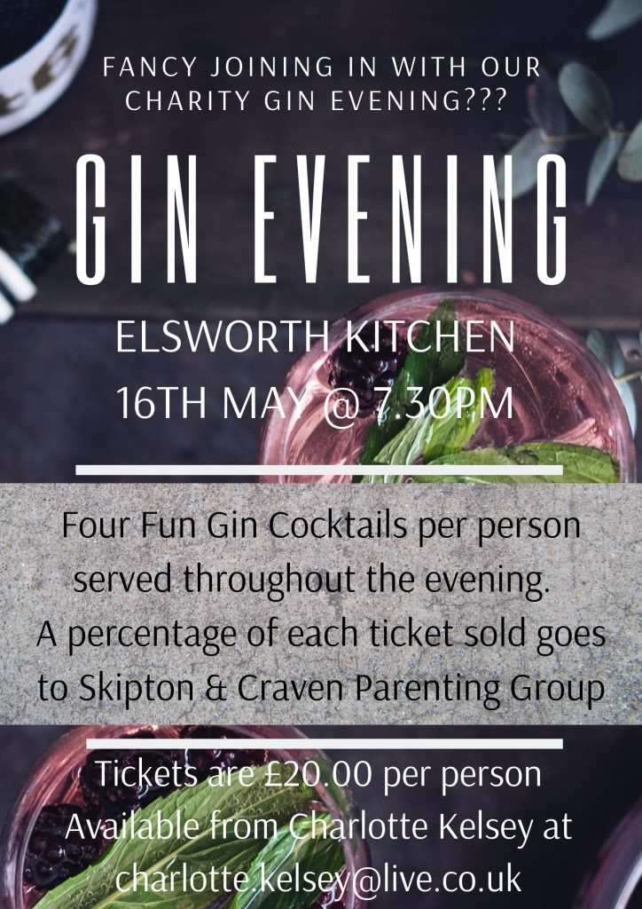 Gin Evening SKipton Restaurant Events