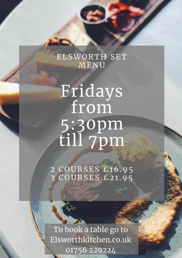 elsworth kitchen skipton restaurant set menu