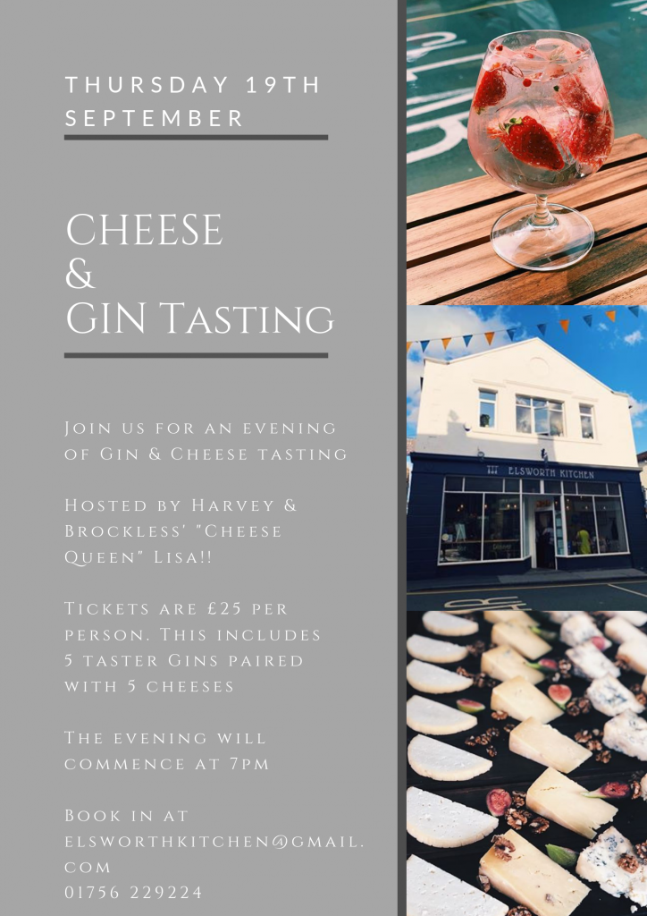 Elsworth Kitchen Restaurant in Skipton Gin & Cheese