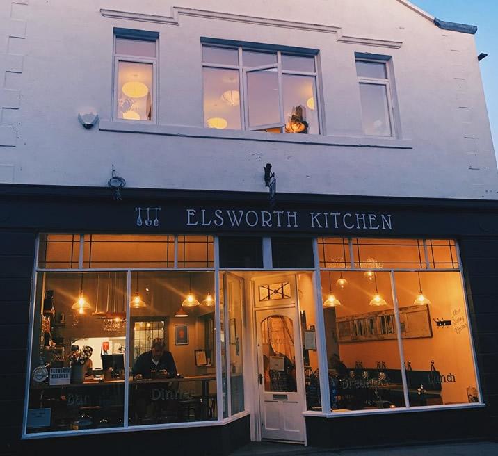 elsworth kitchen restaurant skipton at night