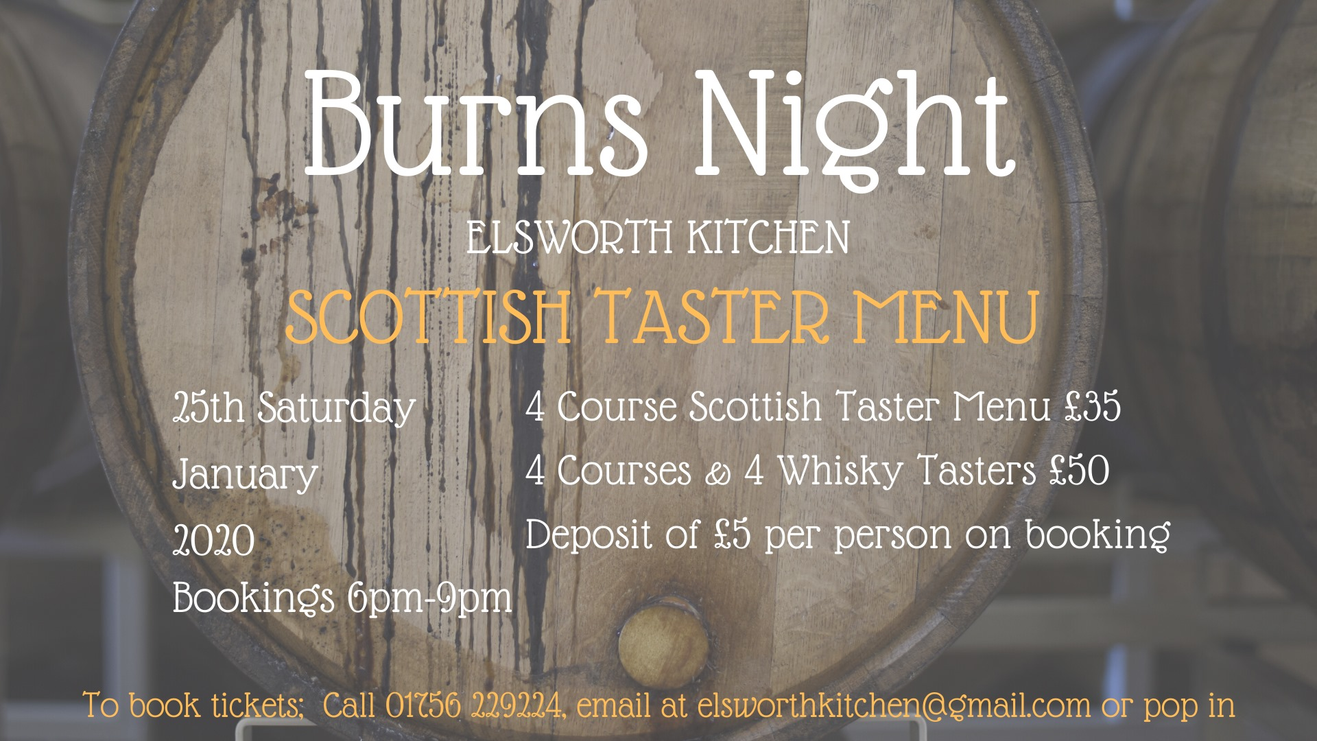 Burns Night Scottish Taster Menu