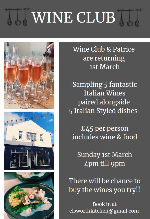 Wine Club 1st March 2020