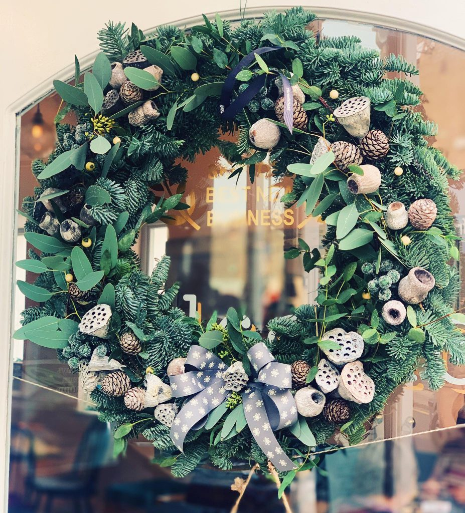 christmas wreath elsworth kitchen restaurant