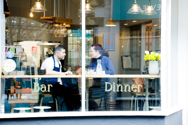through the window at elsworth kitchen in skipton