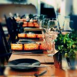 christmas Restaurant Table setting