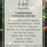 xmas opening hours 2020